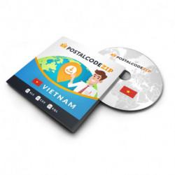 Asia, postal code database